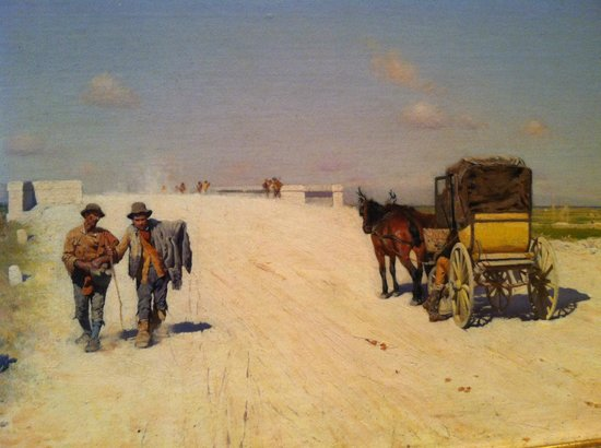 Indianapolis Museum of Art: painting by Salvatore De Nittis, road from Brindisi to Barletta