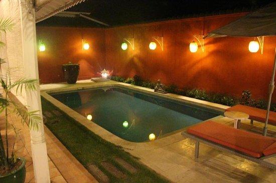Hotel Puri Tempo Doeloe : private villa pool