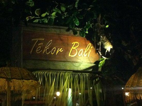 Tekor Bali: Insegna