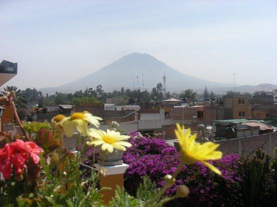 La Hosteria : Photo prise sur le toit de l'hôtel