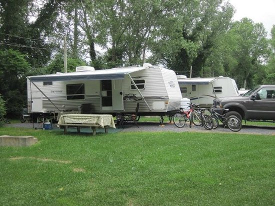 King Phillips Campground : site au soleil