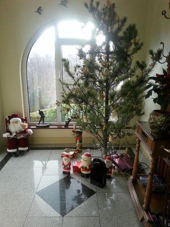 Rockcrest House : Christmas tree by front door
