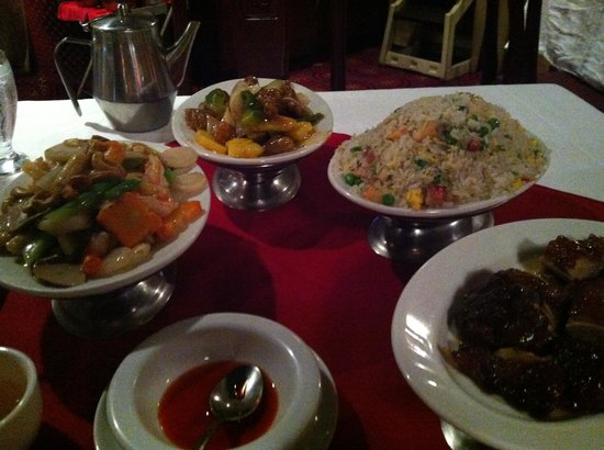 Lung Fung: $35 dinner for two with seafood soup, duck, yang chow fried rice, shrimp with cashews and sweet