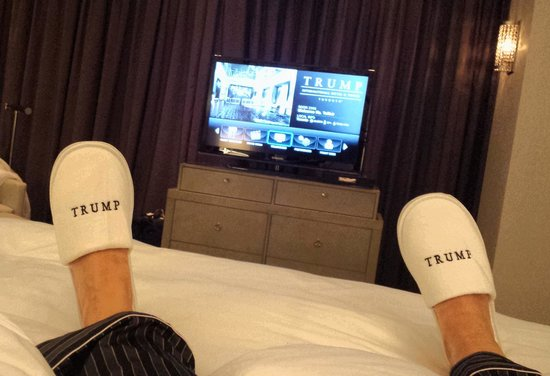 Trump International Hotel & Tower Toronto: Love my slippers!