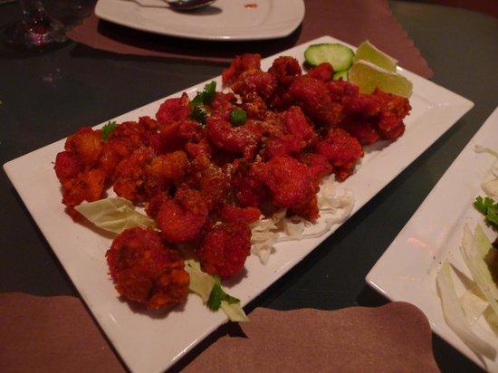 Guru Palace: Shrimp Koliwada (appetizer)