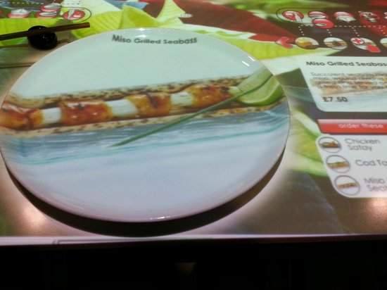 Inamo Soho: Image of food is projected on to your plate