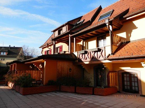 Hotel Le Mittelwihr : Vue de la grande terrasse
