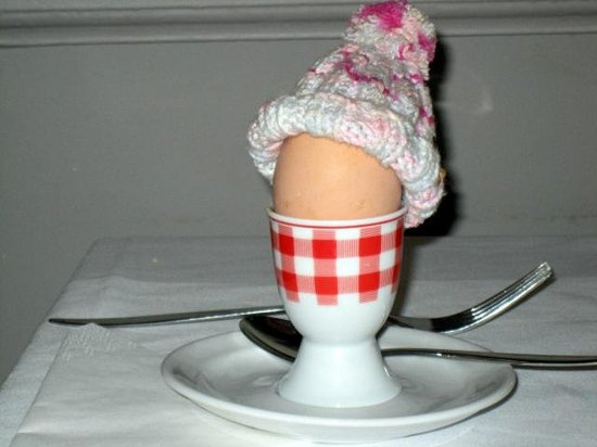 Hotel Villa Rivoli: My hard boiled egg at breakfast!