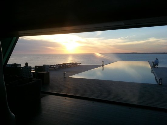 "Playa VIK Jose Ignacio: The view from ""the sculpture"" to the pool"