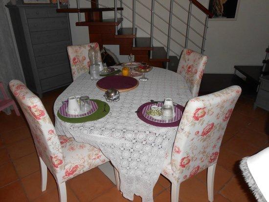 San Pietro A Corte B&B: Il tavolo per la colazione