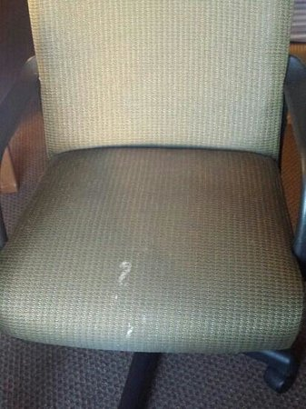 New Victorian Inn & Suites: Nasty stains we found on desk chair.