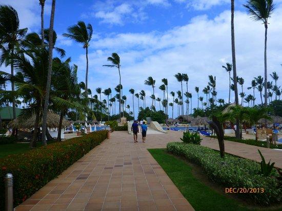 Sirenis Punta Cana Resort Casino & Aquagames: Allée centrale
