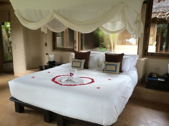 The Naka Island, A Luxury Collection Resort & Spa Phuket: Their setup for our honeymoon