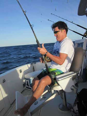 Blue Sky Cabo Fishing and Tours: Reelin 'em in all day on Blue Sky!
