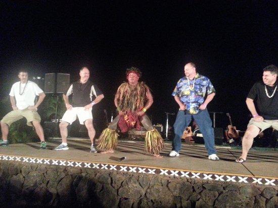 Chief's Luau: Chief Sielu teaching the men how to move!
