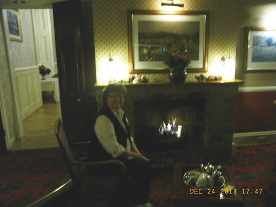 Best Western Limpley Stoke Hotel: In the bar sitting by the fire