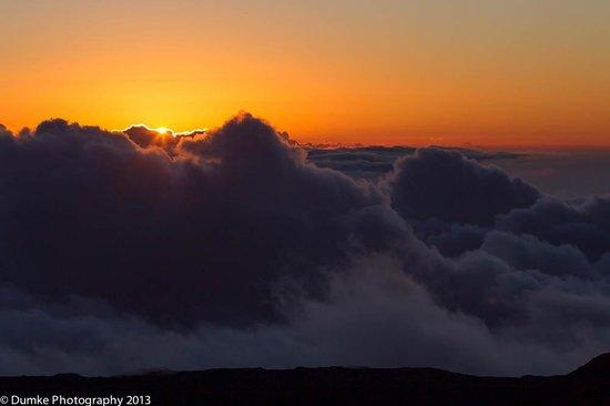 Maunakea Visitor Information Station : Last glimpse of sun