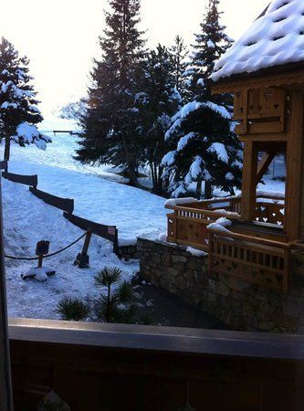 Serre Palas Hotel : View From Our French Doors