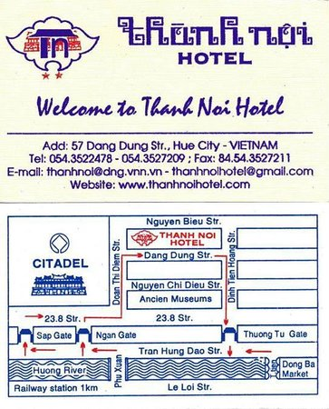 Thanh Noi Hotel: Card