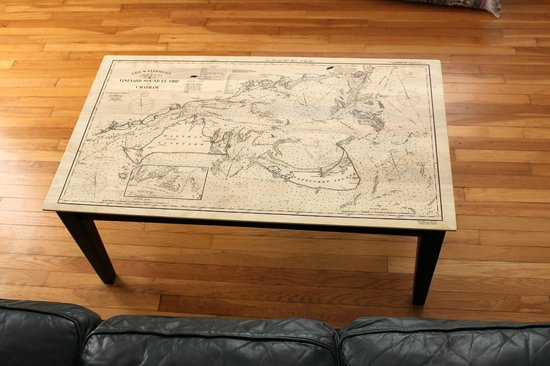 Custom Hardwood Map Coffee Table Picture Of Maps Of Antiquity Chatham Tripadvisor