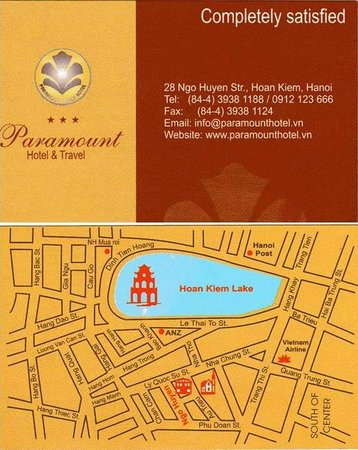 Paramount Hotel Hanoi : Card