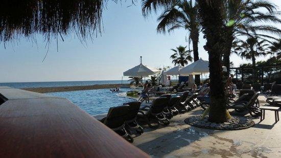 Club Asteria Belek: Blick von der Beachbar auf den Pool