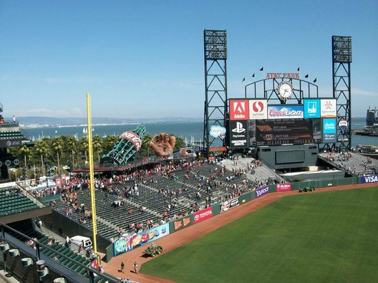 View From Left Field Seats Picture Of At Amp T Park San