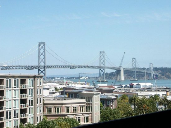 AT&T Park : View of the Bay Bridge from our left field seats