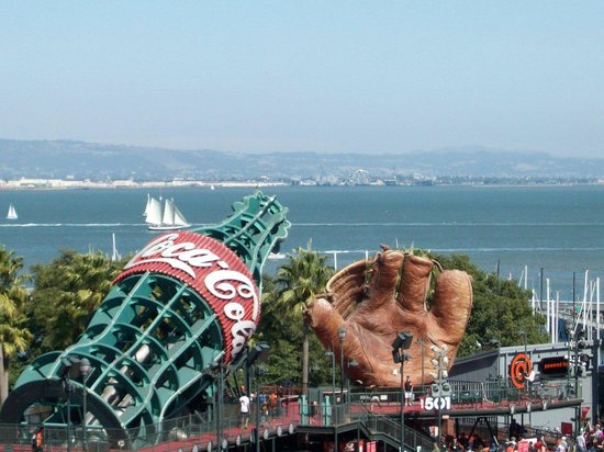 AT&T Park : San Francisco Bay behind center field