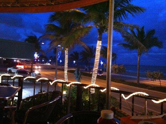 Deck Restaurant At Sea Club: The Deck at night, December 2012