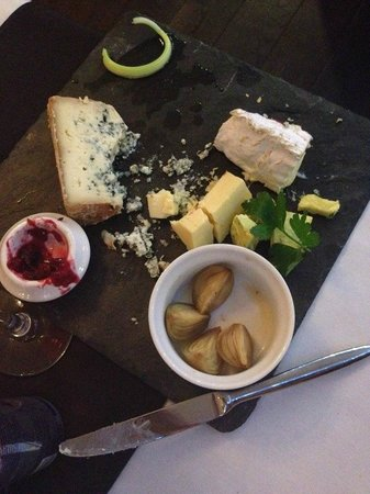 Red Gate: Cheese - A platter of cheeses from around the world, crackers, chutney, pickled onions and celer