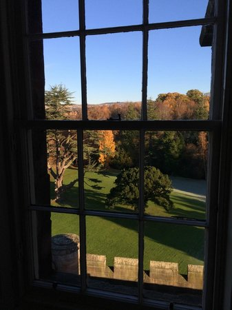 Dalhousie Castle: view from room