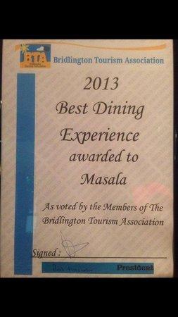 Masala: Another award 2013