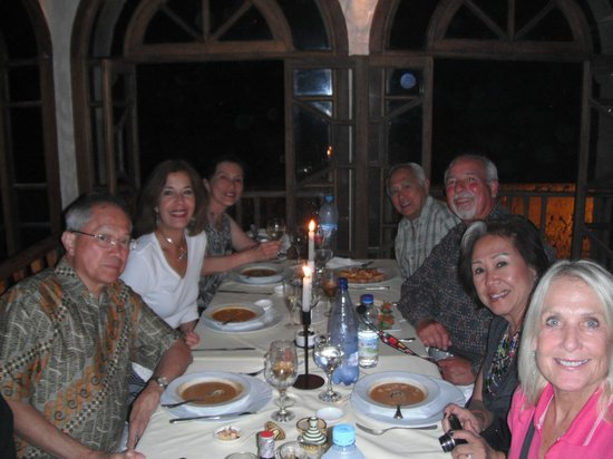 """Our group of friends at """"Il Mare""""."""