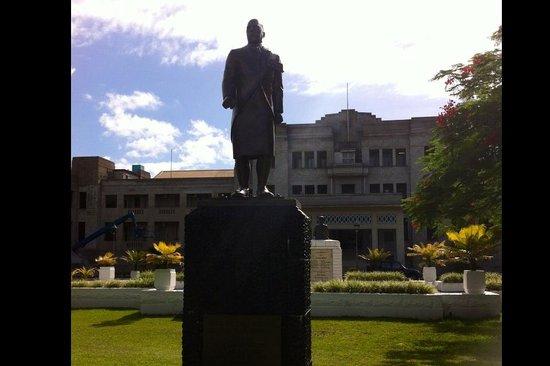 Government Buildings - Parliament: Ratu Sir Lala Sukuna Fiji Statesman statue