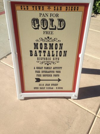 Mormon Battalion Historic Site: Mormon Batallion street board