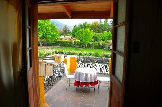 La Calma de Rita: The balcony of the upstairs room