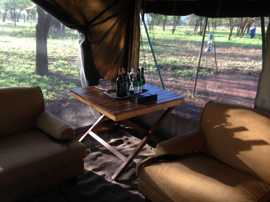 andBeyond Serengeti Under Canvas : Bar Tent