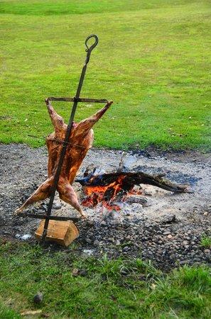 Patagonia BBQ lamb at Rio Serrano Hotel