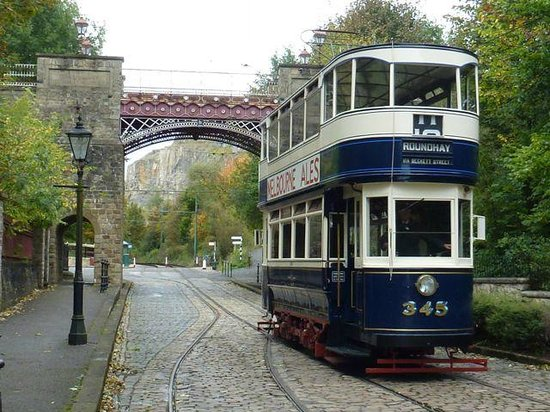 Crich Tramway Village: Bowes Arch and Tram