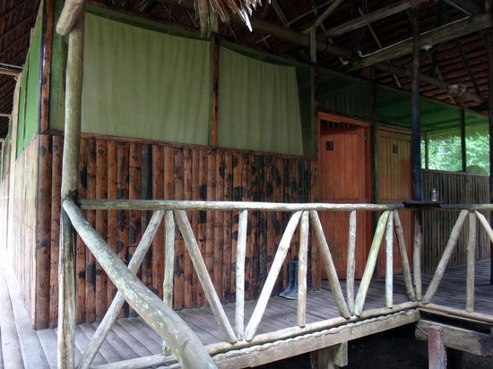 Otorongo Amazon River Lodge: Our room (no windows, just net)