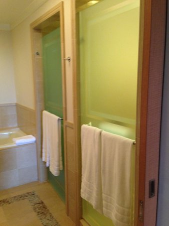 "The Umstead Hotel and Spa: Shower and toilet ""room"""