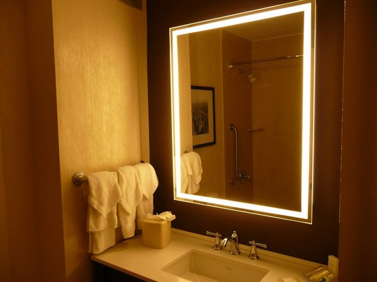 Hilton Garden Inn Times Square: Stylish bathroom