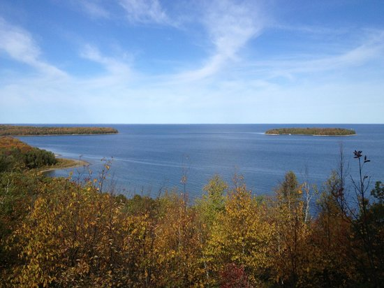 Peninsula State Park: A view from the park in fall.