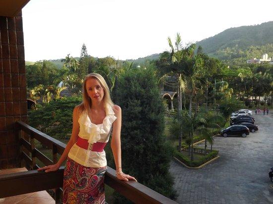Hotel Internacional Gravatal: De 2012 - vista do quarto de frente pro jardim. O que este ano não reservaram, conforme meu pedi