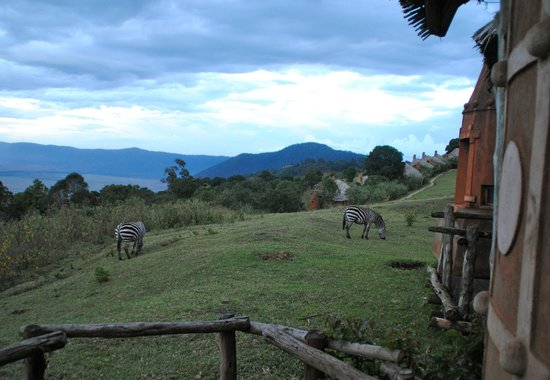 andBeyond Ngorongoro Crater Lodge: view from deck in back of hut