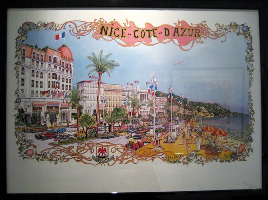 Hotel Negresco: An old poster, but little has changed.