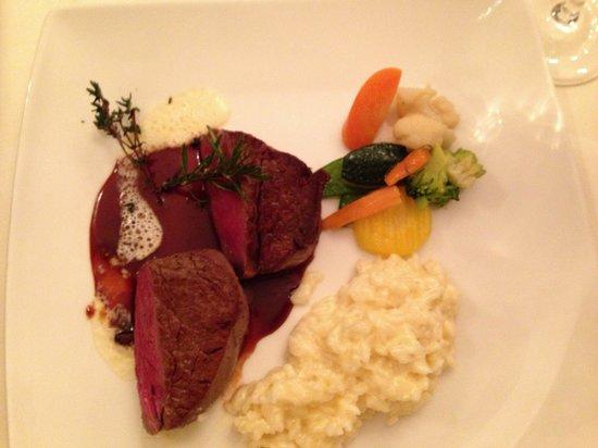 Villa Hausermatte: Beef and risotto