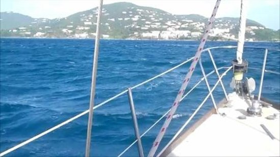 Virgin Islands Day Sailing: Cruising toward Buck Island