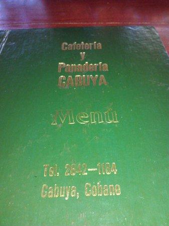 Cabuya Bakery and Cafe: Menu cover